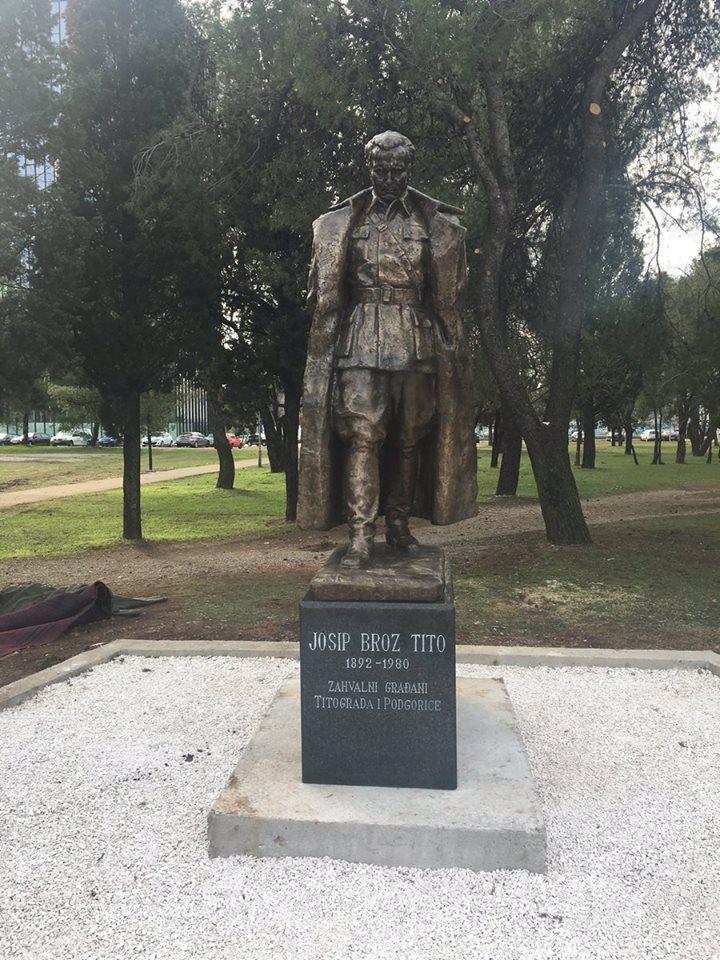 Podgorica Dobila Spomenik Titu Share Montenegro