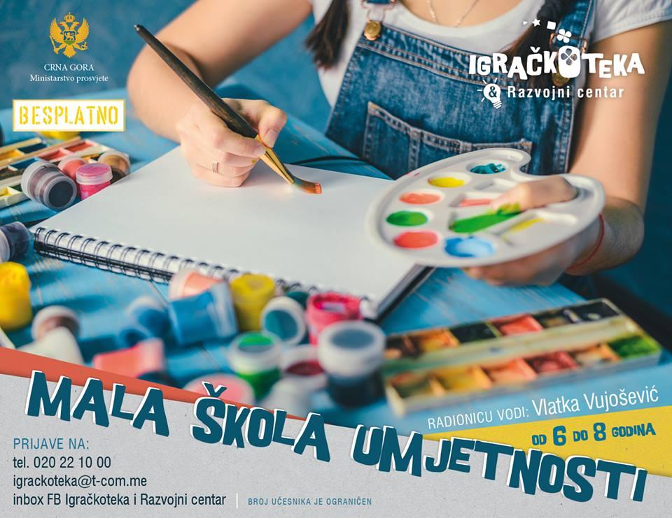 Besplatna škola umjetnosti za osnovce u Podgorici