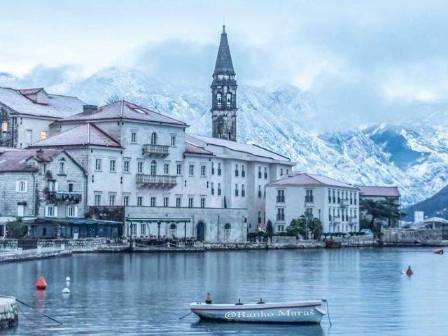 9.januar 2019. u sniježnoj Podgorici, Perastu i na Skadarskom jezeru