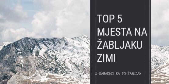Top 5 mjesta na Žabljaku ove zime