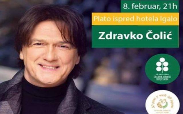 Sjutra koncert Zdravka Čolića u Igalu