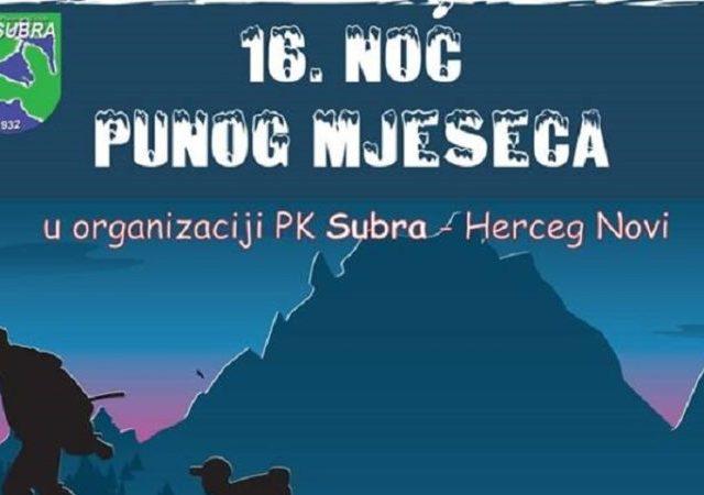 """Tradicija: """"Noć punog mjeseca"""" ovog vikenda na Subri"""