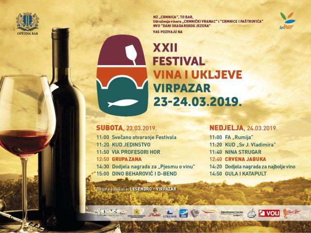 Virpazar: Zana i Crvena jabuka na Festivalu vina i ukljeve ovog vikenda!