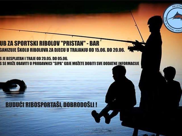 Besplatna škola ribolova za djecu u Baru