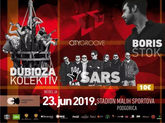 Na City Groove stižu Prljavo kazalište, Letu štuke, SARS…