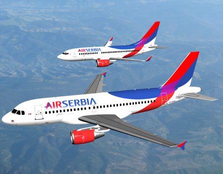 Air Serbia uvodi tri dodatna leta za Tivat