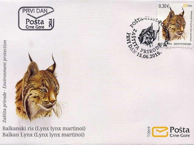 Balkanski ris i NP Lovćen na poštanskim markicama