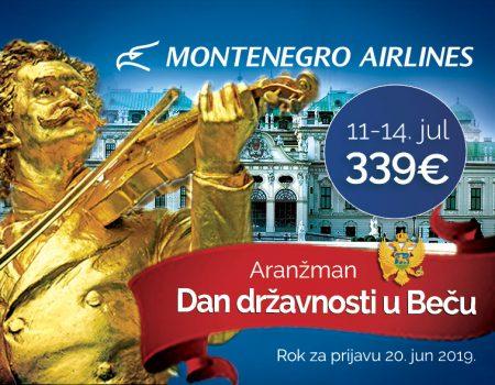 Iskoristite ponudu Montenegro Airlines-a: Četiri dana u Beču za 339 eura!