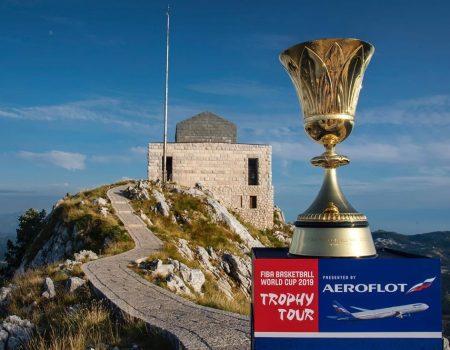 Trofej za prvake svijeta u košarci stigao na Lovćen