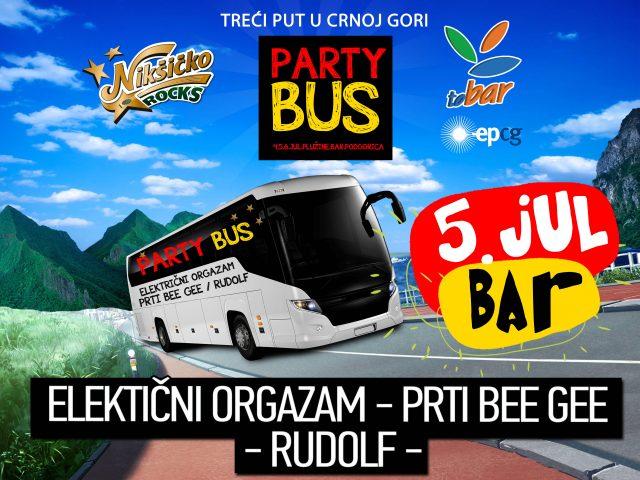 """Ne propustite """"Party bus"""" 5.jula na barskom šetalištu!"""