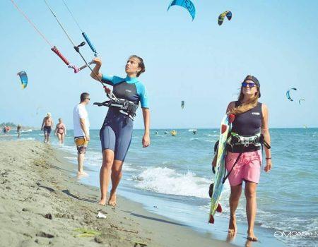 Velika plaža idealna za kajtsurfing