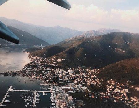 Prvi susret sa Crnom Gorom: Fantastični Tivat iz kokpita!