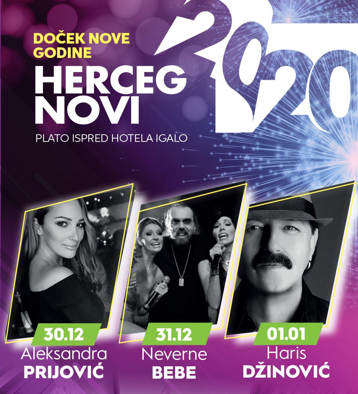 Doček Nove 2020: Neverne bebe i Haris Džinović u Herceg Novom