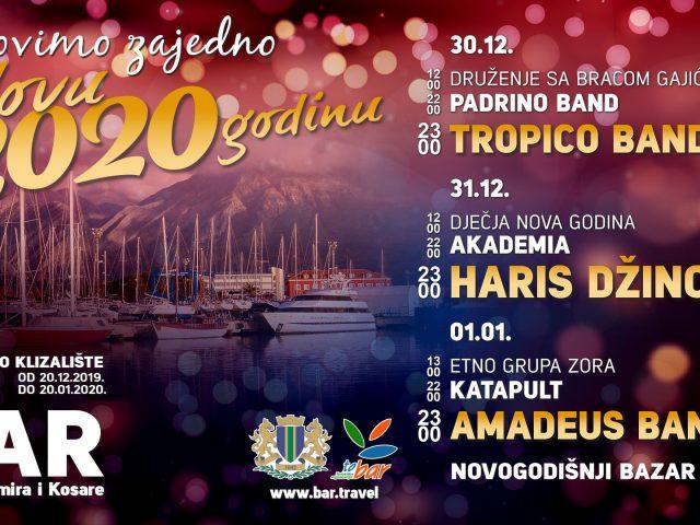 Haris Džinović zvijezda novogodišnje večeri u Baru!