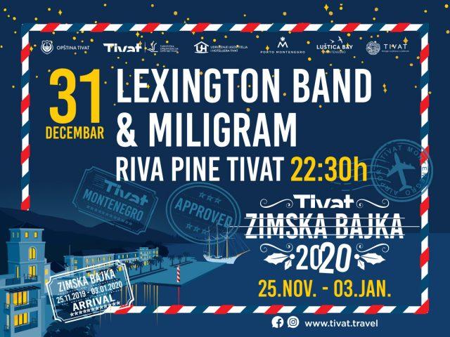 Prenos dočeka Nove godine u Tivtu na RTCG1 i You tube kanalu