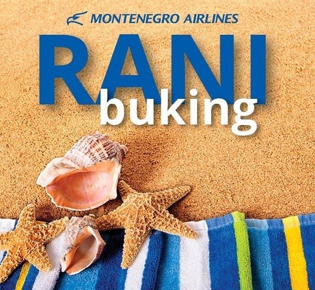 Montenegro Airlines: Ne propustite rani buking!