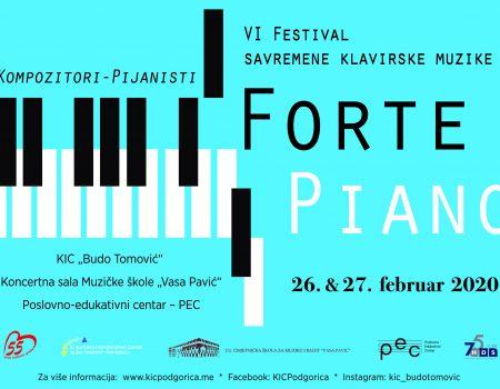 "Festival klavirske muzike ""Forte piano"" 26. i 27. februara"