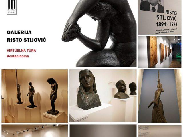 """#Ostanidoma i virtuelno prošetaj kroz galeriju """"Risto Stijović"""""""