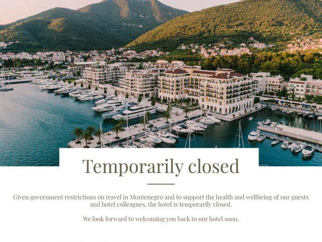 Hotel Regent Porto Montenegro privremeno zatvoren