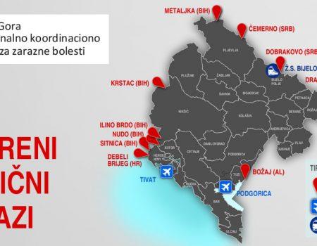 Otvorena većina graničnih prelaza u Crnoj Gori