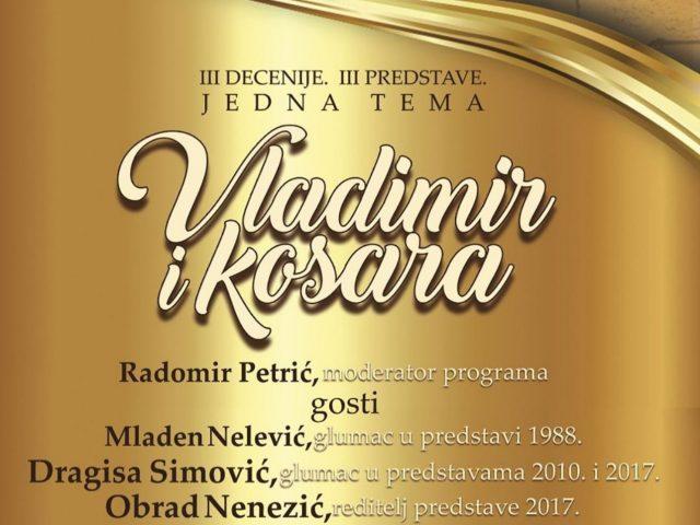 """Sjutra veče online retrospektiva predstave """"Vladimir i Kosara"""""""