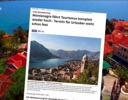 Njemački mediji: Crna Gora je jedna od prvih destinacija koja će spremno dočekati turiste