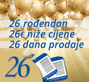 Akcijske cijene karata povodom rođendana Montenegro Airlines-a