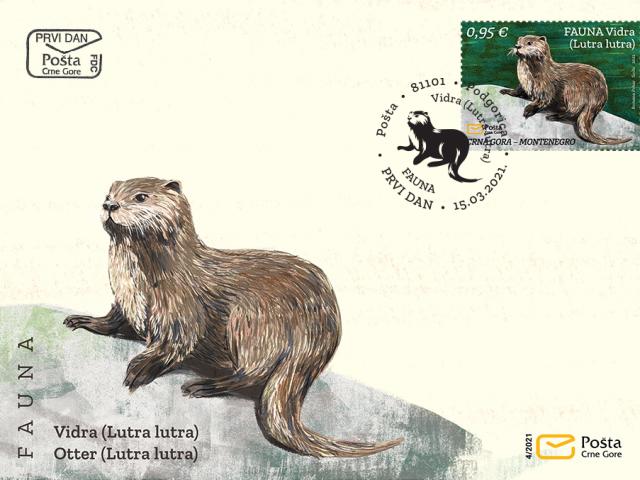 Poštanska marka sa motivom vidre od danas putuje svijetom