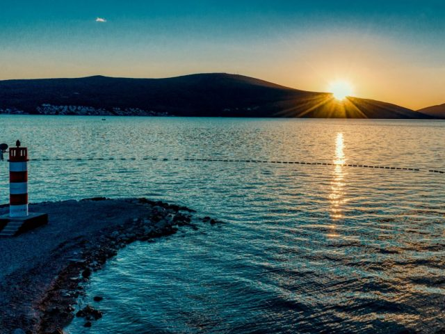 The sunset magic in Tivat